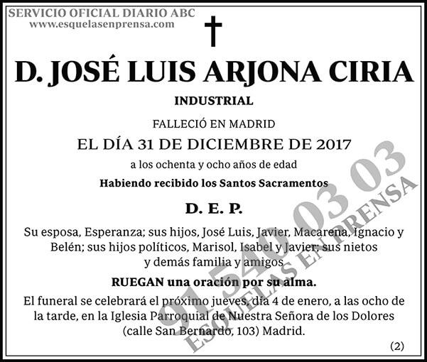 José Luis Arjona Ciria
